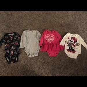 6 month bodysuits girls